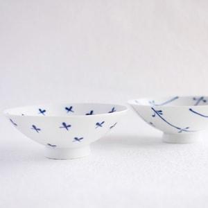 【A set of 4 bowls】A set of 4 flat rice bowls Blue & White (Exclusive box)/ Hakusan Toki_Image_2