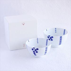 【セット】花茶碗ペア夫婦 ハナカザリ(化粧箱入)/東屋_Image_3