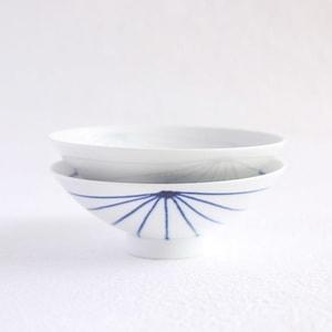 [Set][Exclusive box] Pair flat rice bowls / Blue & White / Hakusan Toki_Image_1