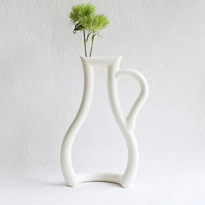 Still green / Flower vase / Water / L / ceramic japan