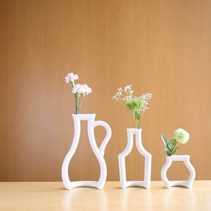 【セット】花瓶3点/still green(L・M・S)/ceramic japan_Image_2