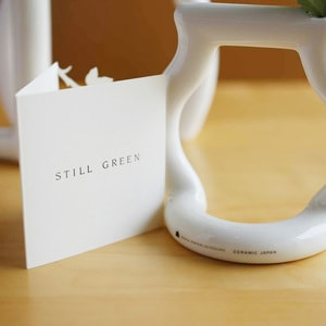 【セット】花瓶2点/still green(L・M)/ceramic japan_Image_1