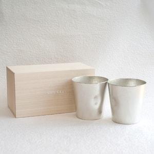 [Set] [Paulownia box] Pair NAJIMI tumbler / Nousaku