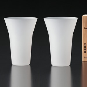 [Set] [Wooden box] Pair Eternal Glasses / Tumbler / Frosted / Wired Beans_Image_1