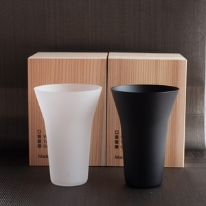 【Set】ETERNAL GLASS/Tumbler/Frost and Black/GiftBox/WIRED BEANS