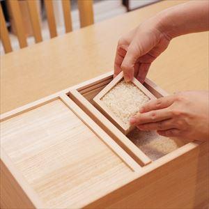 Wooden rice container / 10kg / Azmaya_Image_2
