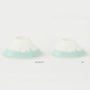 [Set] [Paulownia box] Pair FUJI WAN / Light Blue / Floyd_Image_1
