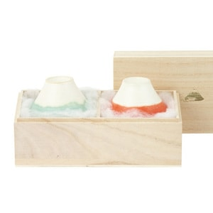 [Set] [Paulownia box] Pair FUJI CHOKO / Red & Light Blue / Floyd