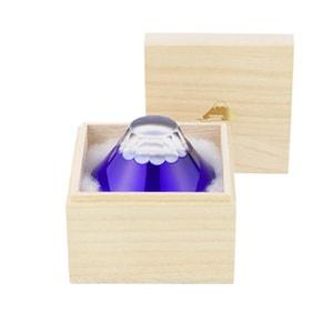 Fuji Edo Kiriko / Sake glass / Ruri (Blue) / Floyd