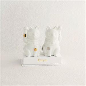 招き猫 ・白/フォーチュンキャット ホワイト/Floyd_Image_1