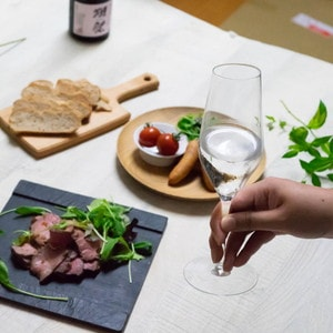 [Set] [Wooden box] Pair Eternal Glasses / Sake glass / UMAKUCHI / Wired Beans_Image_2