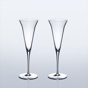 [Set] [Wooden box] Pair Eternal Glasses / Sake glass / KAORI / Wired Beans