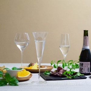 [Set of 3] [Wooden box] Eternal Glasses / Sake glass / KAORI & KARAKUCHI & UMAKUCHI / Wired Beans_Image_2
