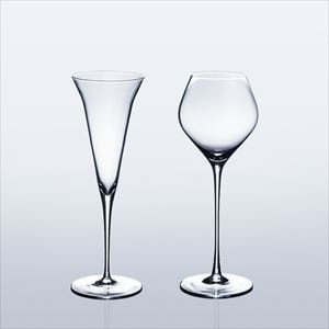 [Set] [Wooden box] Pair Eternal Glasses / Sake glass / KAORI & KARAKUCHI / Wired Beans