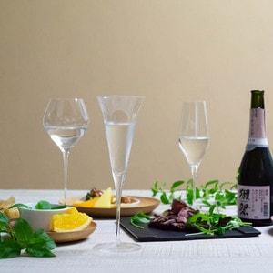 [Set] [Wooden box] Pair Eternal Glasses / Sake glass / KAORI & KARAKUCHI / Wired Beans_Image_2