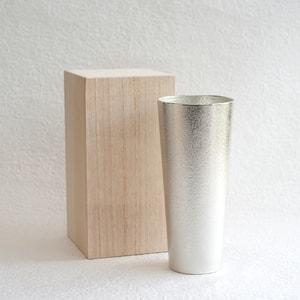 [Paulownia box] Beer cup L / Nousaku
