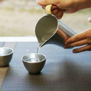[Set] [Paulownia box] Pair Guinomi / Silver / Nousaku_Image_2