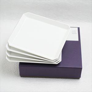 【セット】1616/arita japan スクエアプレート165 4枚組 化粧箱入