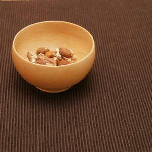 【A Set of 1 bowl, 1 Fork, 1 Spoon】Meibokuwan/Beech wood/Small bowl with fork and spoon/ Sonobe_Image_2