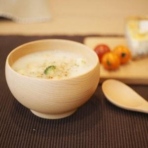 [Set] Meibokuwan & China spoon / Wooden soup bowl / Medium / Sonobe_Image_2