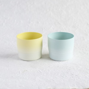 [Set of 2]Espresso cup / Light blue & Yellow /S&B series / 1616 arita japan