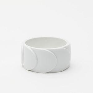 Bracelet DRAKE CUFF No.2 White Matt /2016 Saskia Diez
