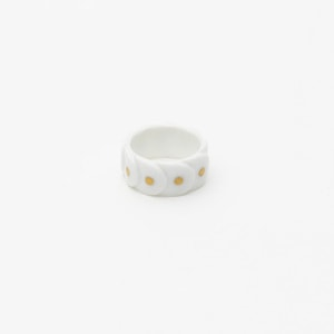 Ring DRAKE RING NO.2(大) White/Gold Dots/2016 Saskia Diez