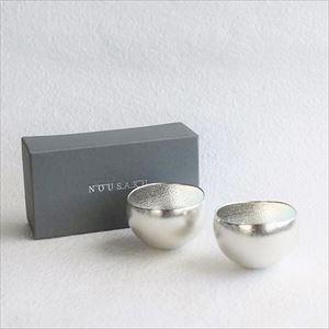 [Set] Pair Kuzushi-Yure / Sake cup / Silver / Nousaku