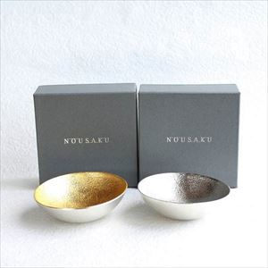 [Set] Pair Kuzushi-Tare (Gold & Silver) / Sake cup / Small bowl / Nousaku