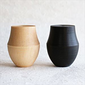 【Set of 2】Tea canister/ Karmi/ KAMA/ Black + Plain/ Gato Mikio Store