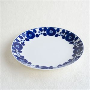 Plate LL / Bloom series / Wreath / Hakusan Toki