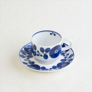 Coffee cup & saucer / Bloom series / Wreath / Hakusan Toki