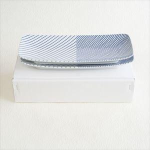 重ね縞 長焼皿ロング2枚セット/白山陶器_Image_3