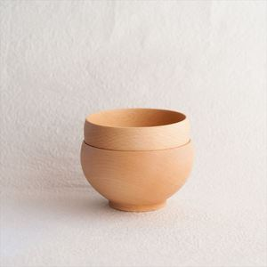 [Set] [Exclusive box] Pair Meibokuwan / Wooden soup bowl / Medium / Sonobe