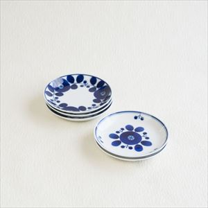 [Set of 5] Plate SS / Bloom series / Wreath & Bouquet / Hakusan Toki