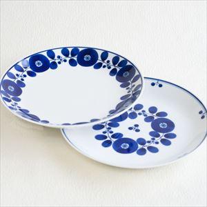 【セット】ブルーム プレートL リース&ブーケ 2枚セット/白山陶器
