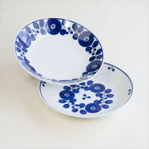 [Set] Pair of Free dish / Bloom series / Wreath & Bouquet / Hakusan Toki