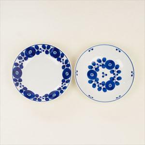 【セット】ブルーム フリーディッシュ リース&ブーケ 2枚セット/白山陶器_Image_1