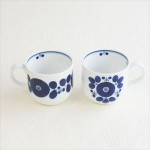 [Set] Pair of Mug / Bloom series / Wreath & Bouquet / Hakusan Toki