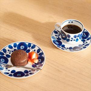 [Set] 2 Coffee cups & Saucers / Bloom series / Wreath / Hakusan Toki_Image_2