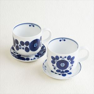 [Set] Pair of Mug & Plate SS / Bloom series / Wreath & Bouquet / Hakusan Toki_Image_1