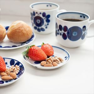 [Set] Pair of Mug & Plate SS / Bloom series / Wreath & Bouquet / Hakusan Toki_Image_2