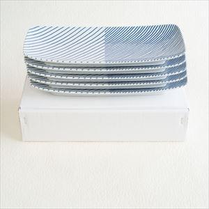 【セット】重ね縞 長焼皿ロング 5枚/白山陶器_Image_3