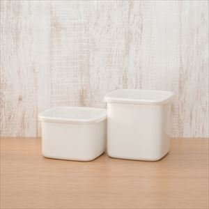 [Set] Square with seal lid / M×1, L×1 / Noda Horo