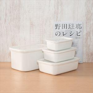 【公式レシピ本セット】レクタングル深型 S1点 M1点 L1点 LL1点/野田琺瑯