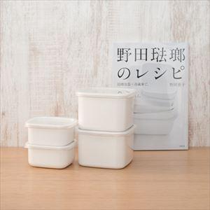 【公式レシピ本セット】スクウェアS2点 M2点/野田琺瑯