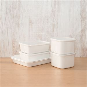 [Standard set of 6] Enamel baking pan 21 tori×2 / Rectangle Deep M×2 / Square M×2 / Noda Horo