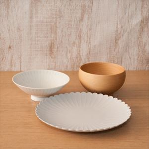 [Set of 3] Basic Japanese tableware set