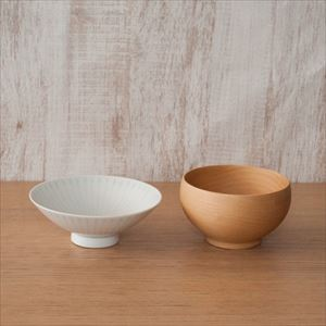 [Set of 2] Basic Japanese tableware set / Good Design pair