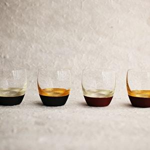 【セット】うるしの酒盃 丸型(銀黒、金赤ペア) ギフトボックス入/鳥羽漆芸_Image_2